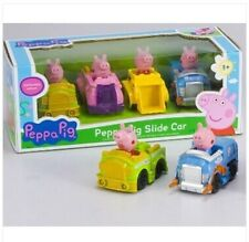 New Kids Toy Peppa Pig Slide car with 4 Figures Xmas Gift children 2016 fashion