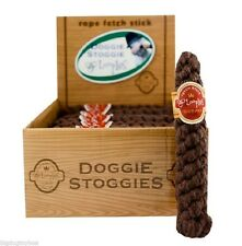 Doggie Stoggie Dog Cigar Rope Chew Toy Scented in Chocolate for Pampered Pups