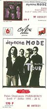 RARE / TICKET DE CONCERT - DEPECHE MODE A PARIS BERCY / FRENCH 1993 / COMME NEUF