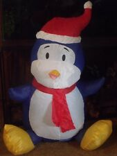 CHRISTMAS OUTDOOR LED LIGHTED AIRBLOWN INFLATABLE SANTA HAT PENGUIN FIGURE YARD