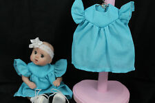 """GOING OUT OF BUSINESS SALE---DRESS FOR 5-1/2""""--6"""" OOAK DOLL BLUE"""