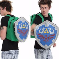 The Legend of Zelda Link Hylian Shield Shaped Book Bag Cosplay School Backpack
