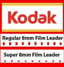 Genuine Kodak 8mm / Super 8mm White Movie Film Leader COMBO PACK (LOWEST PRICE)