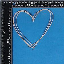 Chipboard A2Z Scraplets Scribble Heart Medium Shape