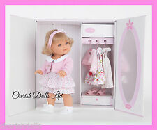 "14"" BIG BABY BLONDE GIRL DOLL NEW BOXED ANTONIO JUAN WARDROBE BOX  EX CLOTHING"