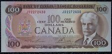 "BANK OF CANADA - 1975 $100 Note - Prefix ""JD""- SCARCE - Signed Lawson & Bouey"