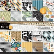 "Docrafts Papermania ~ MR MISTER ~ 12 x 12"" Double Sided Paper Pack (24pk)"