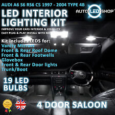 AUDI A6 S6 RS5 C5 97-05 LED INTERIOR UPGRADE COMPLETE KIT SET BULB XENON WHITE