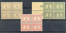NED INDIE # 107, 110/111  x 4   KW € 68  ** MNH   PF  @4