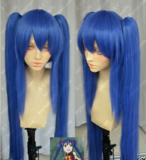 Fairy Tail Wendy Marvell Dark Blue Double Ponytail Cosplay Wig
