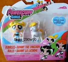 *The Powerpuff Girls* BUBBLES & DONNY THE UNICORN DOLLS 2 PACK with STANDS
