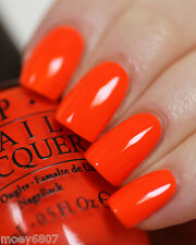 New! OPI Neon Collection JUICE BAR HOPPING Bright Orange Nail Polish Lacquer N35