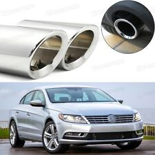 Car Exhaust Muffler Tip Tail Pipe Trim Silver for Volkswagen CC 2009-2016 #1030