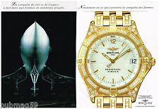 Publicité Advertising 1995 (2 pages) La Montre Breitling Perpetuel Sirius