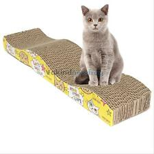 Pet Cat Kitten Scratching Corrugated Board Scratcher Post Pole Bed Mat Pad Toys