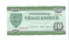 Faeroe Islands - 1974, Ten (10) Kronur  !!UNC!!