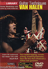 LICK LIBRARY GUITAR TECHNIQUES VAN HALEN Learn to Play Picking Rock GUITAR DVD