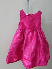 Young Hearts 2 Toddler Petal A Line Dress - bright pink-boutique-holiday-