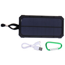 50000mAh Dual USB Portable Solar Battery Charger Power Bank For Phone Black