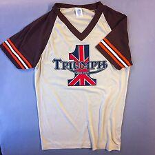 NOS vtg TRIUMPH 1970's DS T-Shirt norton Harley Davidson Cafe Racer Velocette
