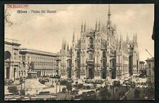 Milano : Piazza del Duomo - cartolina viaggiata negli anni '20 per la Francia