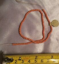 Antique Vintage Victorian Undyed Coral Bead Deco Estate Necklace Bracelet Repair