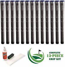 13 x Winn Dri-Tac DriTac Dark Gray Grey Midsize 6DT-DG Golf Grips + Install Kit!