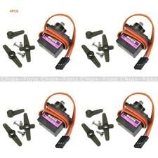 4Pcs MG90S High Speed Metal Gear Geared Micro Servo RC Plane Helicopter Boat Car