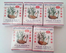 Ginger Chewy Candy  - By Sina,  5 pkg @ 9pcs = 45pcs, Foil Wrapped & Sealed,