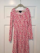 Oscar de la Renta Girl's Pink & White Flower Long Sleeve Dress–Girl's Sz 10- EUC