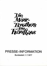 Die Marx Brothers im Kaufhaus Presseheft press book The Big Store Groucho Marx