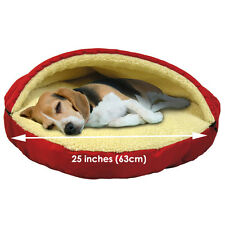 Fleecy Pet Cave - Soft Bed for Small Dog or Cat with Removable Top