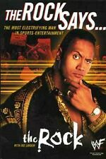 The Rock Says... - HC w/DJ 1st PRINT WWF 2000 - Dwayne Johnson