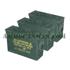 3 Cans! Three 30 Cal Grade 1 Empty Ammunition Case. M19A1 Ammo Cans