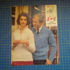 Vintage Emu His & Hers Sweater Knitting Pattern 4155