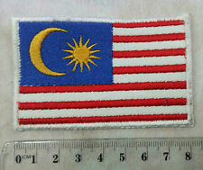 Malaysia Flag Embroidered Sewn On Patch New