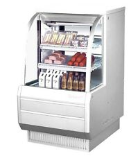 TURBO AIR 36.5 HIGH PROFILE CURVED GLASS DELI CASE COOLER 2 SHELVES TCDD-36-2-H