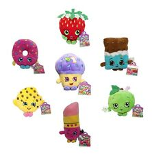 """Shopkins 6"""" Deluxe Plush Toy Figure Set of 7 Official Product + Stickers Gift"""