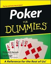 Poker for Dummies  by Richard D. Harroch and Lou Krieger (2000, Paperback)