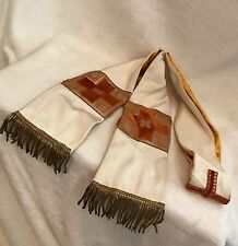 Antique 1900's French Catholic Priest Vestment STOLE, GOLD METAL FRINGE