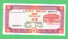 Macau 10 Patacas Note P-77 Note  UNCIRCULATED