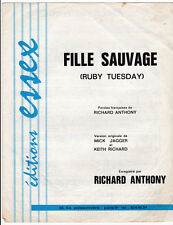 FILLE SAUVAGE RUBY TUESDAY PARTITION  RICHARD ANTHONY  MICK JAGGER KEITH RICHARD