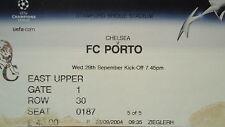 TICKET UEFA CL 2004/05 Chelsea FC - FC Porto