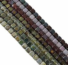 Metallic & Luster Mix 6mm 175pc Square Czech Czechmate Glass Two Hole Tile Beads