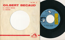 GILBERT BECAUD 45 TOURS FRANCE LE RIDEAU ROUGE