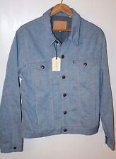NWT $290 LEVI'S Made & Crafted Premium Denim Jacket in Stone Bleach Sz 4 (XL)