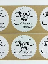 """100 Thank You for your business  2"""" Starburst Black 100 NEW Stickers Thank You"""