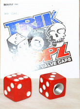 Trick Top Schrader Valve Caps / Red Dice NEW!