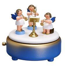 Musikdose blau 3 Engel bunt 12cm Spieluhr NEU Weihnachten Seiffen Spieldose