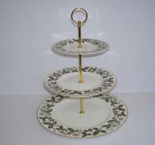 "Wedgwood ""Strawberry Hill"" Gilded 3 Tier Cake Stand."